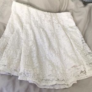 Express White Lace Skirt Small